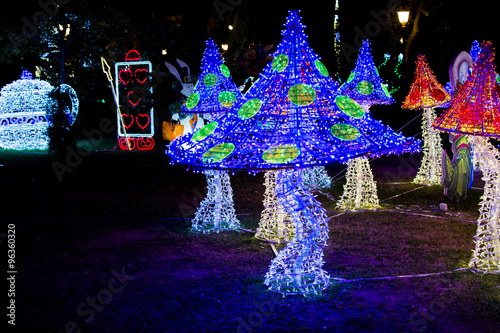 Mushrooms of Lights in Salerno for Artist Light event Fototapeta