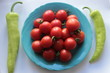 cherry tomatoes and hot pepper