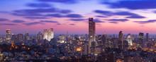 Tel Aviv Cityscape At Sunset