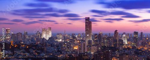 Fotografia Tel Aviv Cityscape At Sunset