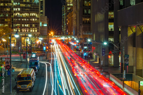 Deurstickers Toronto Night view of the traffic in Toronto