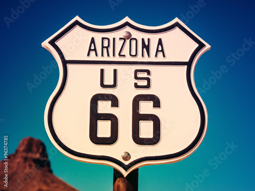 Spoed Fotobehang Route 66 Route 66 Sign