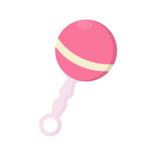 Pink Baby Rattle