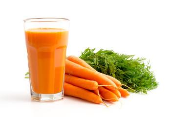 Fototapeta Warzywa Karottensaft