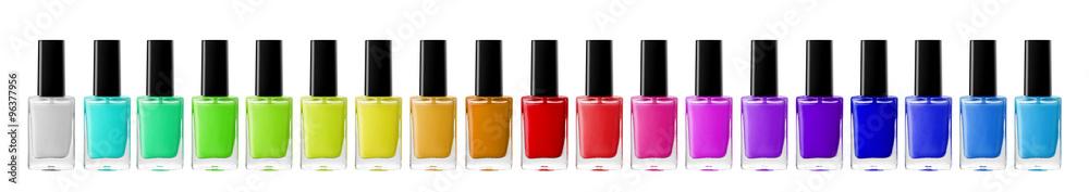 Fototapety, obrazy:  bright nail polishes