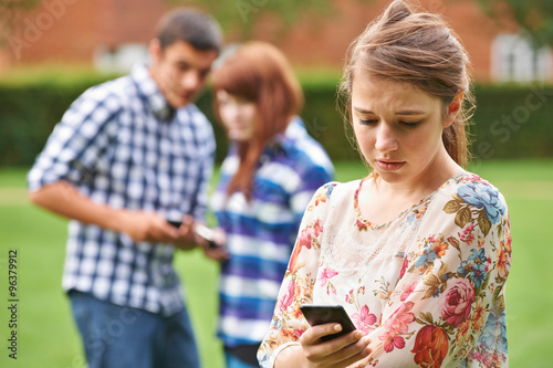 Photo  Teenage Girl Victim Of Bullying By Text Message