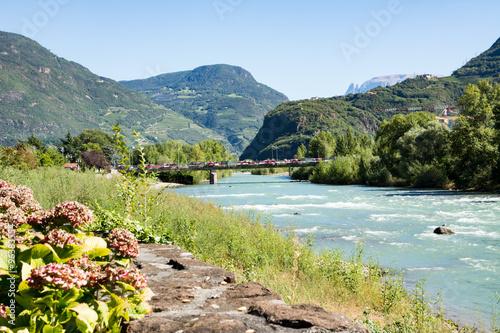 River Adige in Bolzano Wallpaper Mural