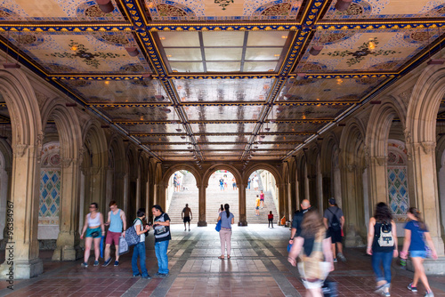 фотография  Minton Tiles at Bethesda Arcade New-York city, manhattan, central park