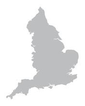 Grey Vector Map Of England