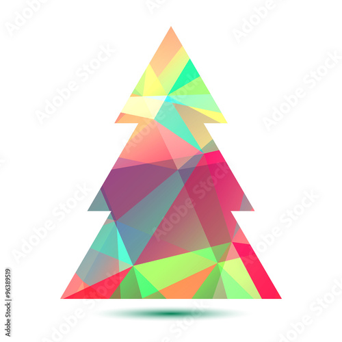 Photo Stands bright christmas tree