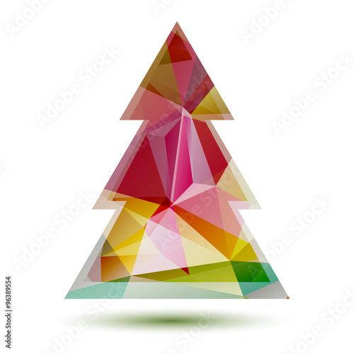 Photo Stands polygonal christmas tree
