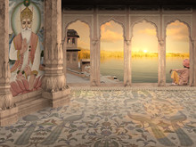 Meditating In A Palace.