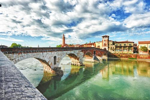 Fotografiet  Paesaggio di Verona.