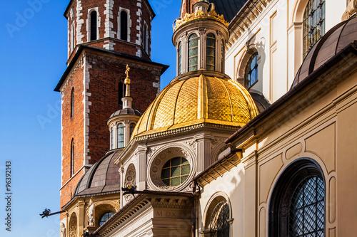 Fototapeta Wawel hill with cathedral in Krakow obraz