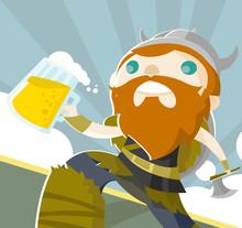 Vikingo Con Cerveza Artesanal