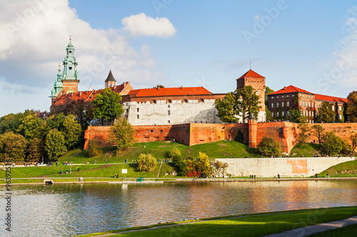 Foto op Canvas Krakau Wawel hill with castle in Krakow