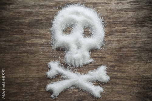 Fototapeta unhealthy white sugar concept