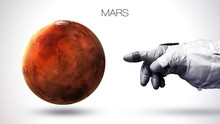 Mars - High Resolution Best Quality Solar System Planet. All The Planets Available. This Image Elements Furnished By NASA