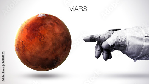 Deurstickers Nasa Mars - High resolution best quality solar system planet. All the planets available. This image elements furnished by NASA