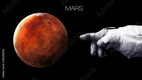 Keuken foto achterwand Nasa Mars - High resolution best quality solar system planet. All the planets available. This image elements furnished by NASA