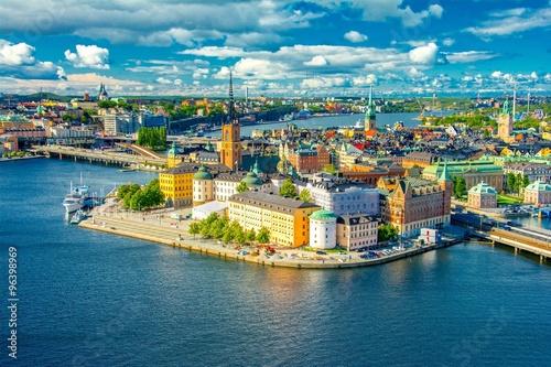 Papiers peints Bleu vert Stockholm, Sweden