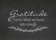 Gratitude Quote On Dusty Black...