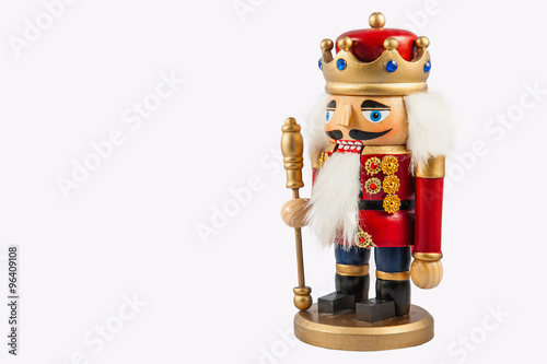 Fotografía  Traditional figurine christmas nutcracker wearing an old military style uniform