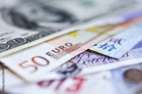 International money Wallpaper Mural