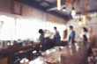 Blurred background of Coffee shop with vintage filter.