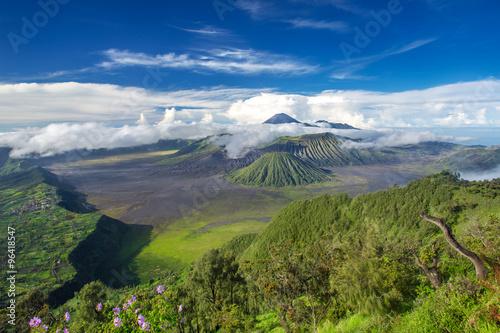 Keuken foto achterwand Nieuw Zeeland Mount Bromo and Batok volcanoes panorama in Bromo Tengger Semeru