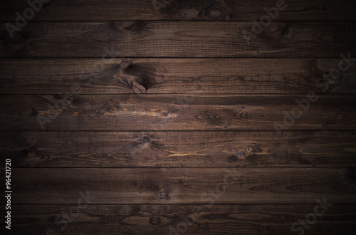 Foto op Aluminium Hout dark wood planks background