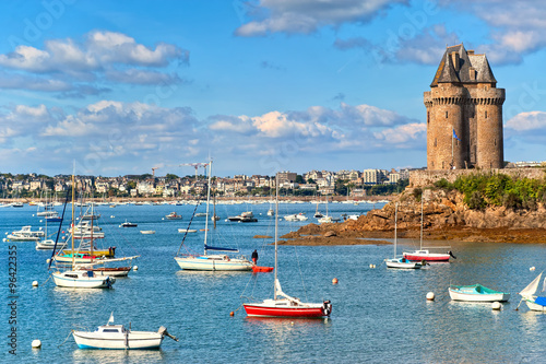 Papel de parede Solidor Tower, Saint Malo, Brittany, France