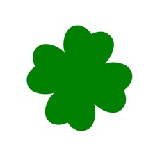 Simple Clover With Four Leaves
