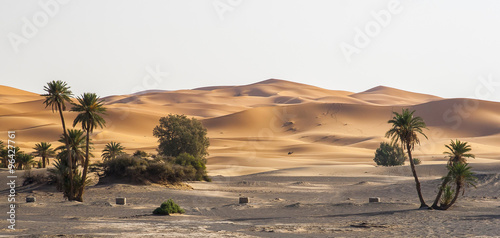 Photo sur Toile Desert de sable Erg Chebbi in Morocco
