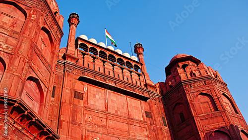 Stickers pour porte Delhi Lal Qila - Red Fort in Delhi, India.