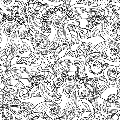 szkic-czarno-biale-tlo-rysowane-recznie-falisty-wzor