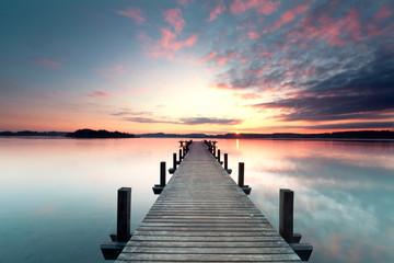 Fototapeta Sommermorgen mit Sonnenaufgang