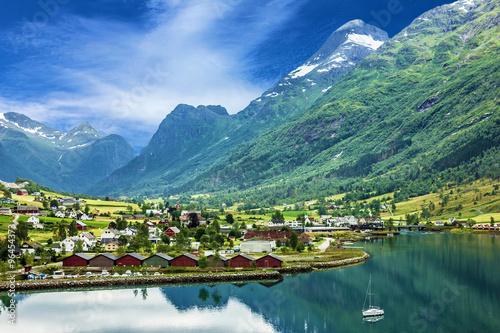 Mountain village Olden, Norway
