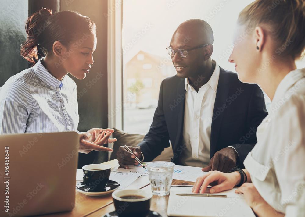 Fototapeta Multi ethnic business people