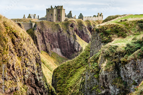 Dunottar Castle in Scotland. Wallpaper Mural