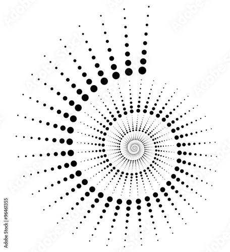 abstrakt-kropkowal-wolute-slimaczka-element-na-bielu-sztuka-wektor