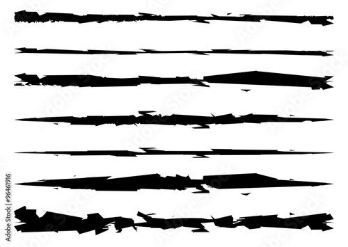 Fototapeta grungy, textured brush strokes, rip, scratch vector