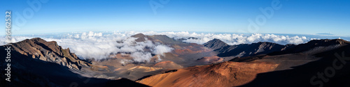 Obraz na plátně Panoramic view of Haleakala crater, Maui Hawaii