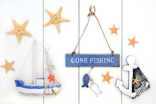 Gone Fishing Decorative Abstract