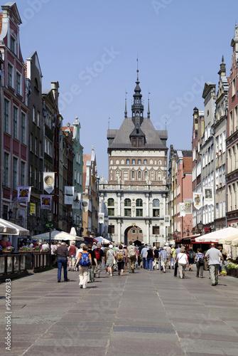 Fotobehang Praag Golden gate in Gdansk - Poland
