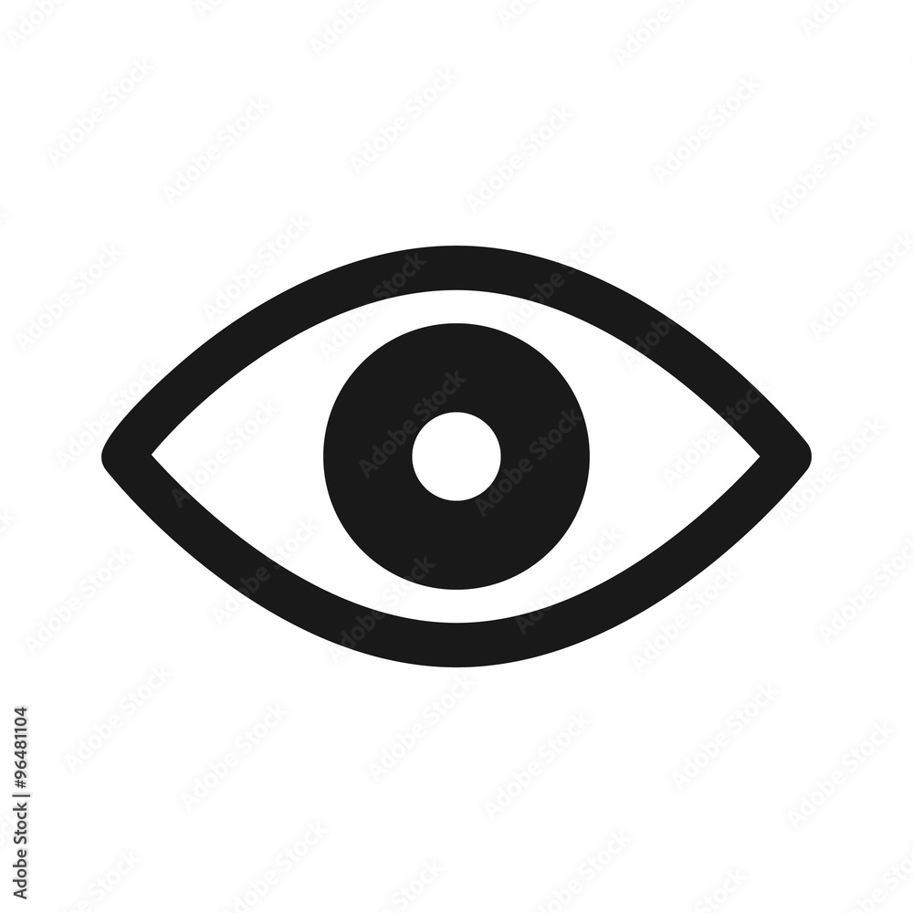 Fototapeta Retina scan eye flat icon for medical apps and websites