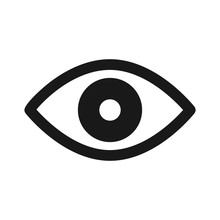 Retina Scan Eye Flat Icon For ...