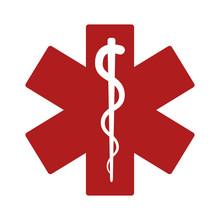 Medical Alert Emergency / Ems Flat Icon For Apps And Websites
