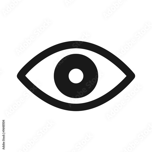 Fotografía  Retina scan eye flat icon for medical apps and websites