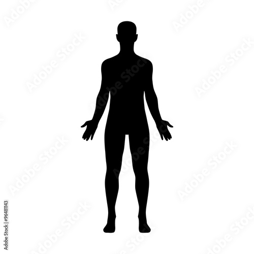 Male human body belonging to an adult man Canvas